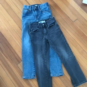 Old navy 2 pairs boys slim jeans. One Never worn.